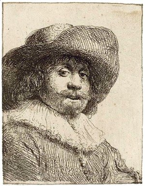 Rembrandt - A Man in a broad-brimmed Hat
