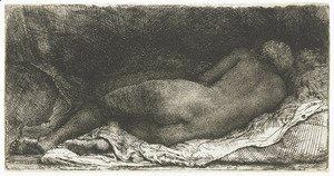 Rembrandt - A Negress lying down