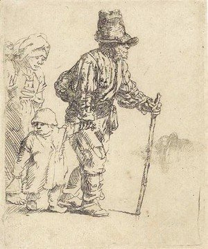 Rembrandt - A Peasant Family on the Tramp