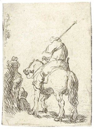 Rembrandt - A Turbaned Soldier on Horseback
