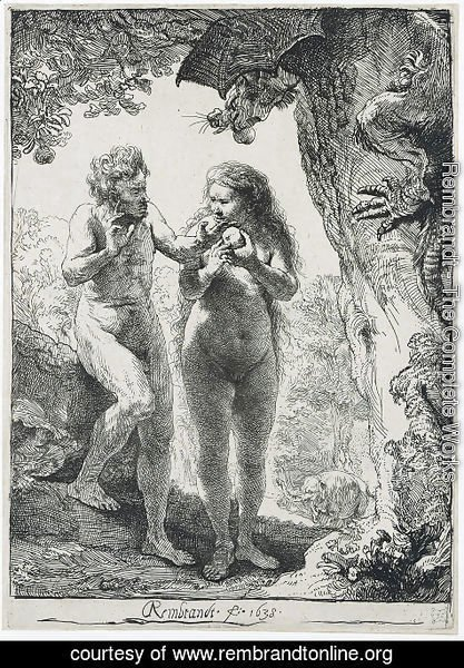 Rembrandt - Adam and Eve