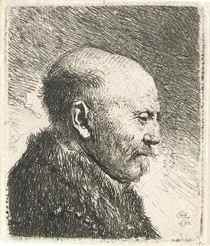Bald-headed man in Profile Right; The Artist's Father