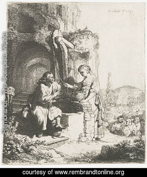 Rembrandt - Christ and the Woman of Samaria among Ruins