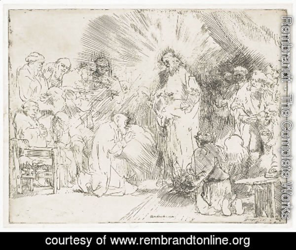 Rembrandt - Christ appearing to the Apostles