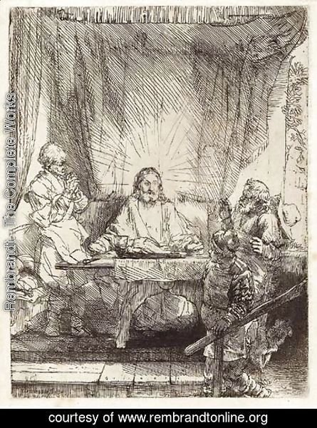 Rembrandt - Christ at Emmaus Large plate