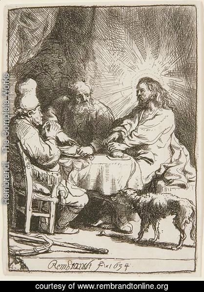 Christ at Emmaus The smaller Plate