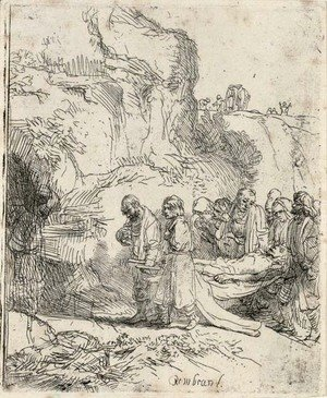 Rembrandt - Christ carried to the Tomb