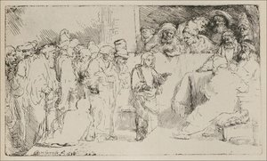 Rembrandt - Christ disputing with the Doctors A Sketch