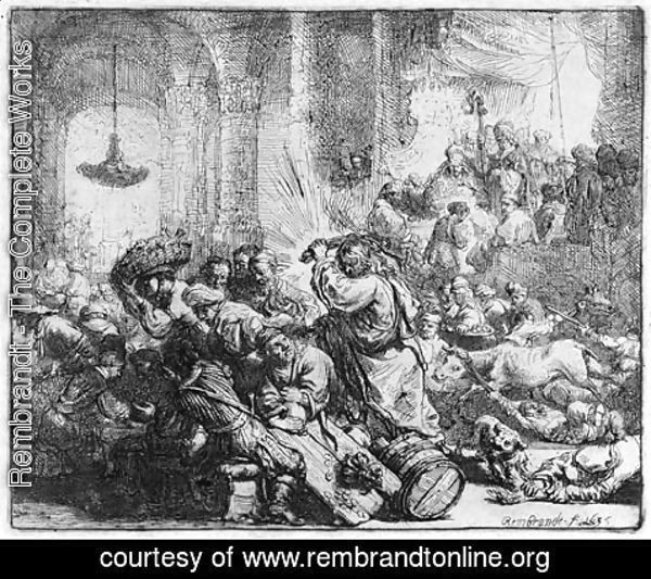Rembrandt - Christ driving the Money Changers from the Temple 2