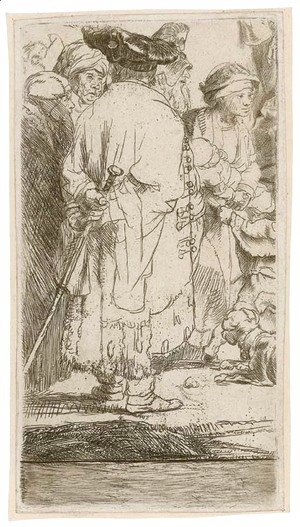 Rembrandt - Christ healing the Sick A Fragment