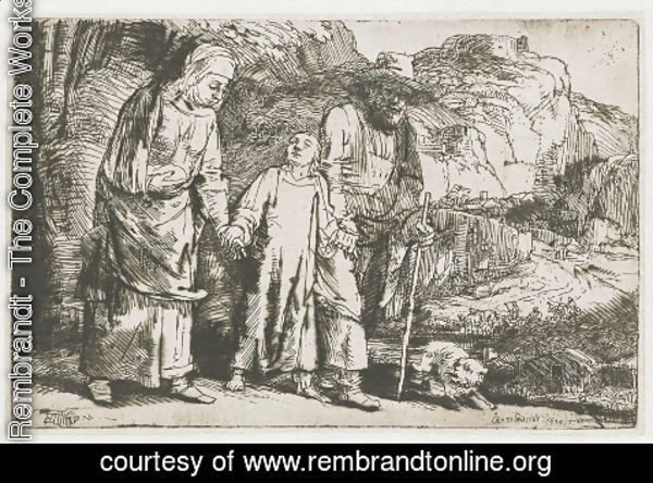 Rembrandt - Christ returning from the Temple with his Parents