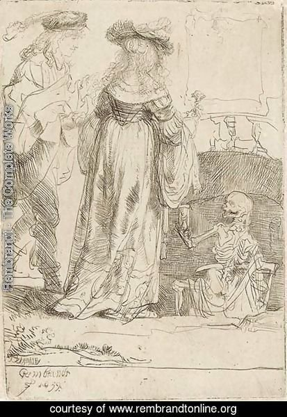 Death appearing to a wedded Couple from an open Grave 2