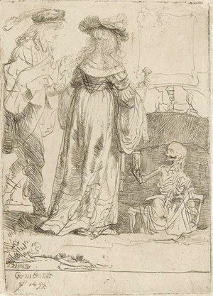 Rembrandt - Death appearing to a wedded Couple from an open Grave 2
