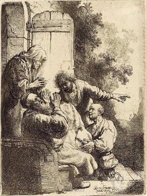 Rembrandt - Joseph's Coat brought to Jacob