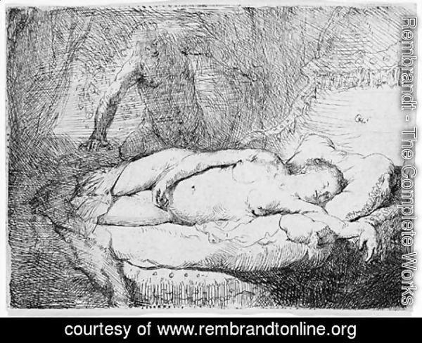 Rembrandt - Jupiter and Antiope Small plate