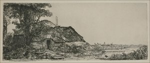 Rembrandt - Landscape with a Cottage and a large Tree