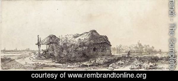 Landscape with a Cottage and Haybarn Oblong