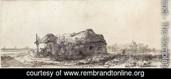 Rembrandt - Landscape with a Cottage and Haybarn Oblong