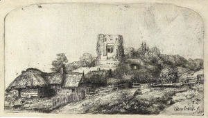 Rembrandt - Landscape with a square Tower