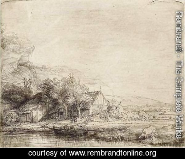 Rembrandt - Landscape with two Cows