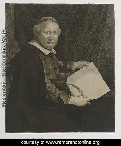 Lieven Willemsz. van Coppenol, Writing-Master Large Plate