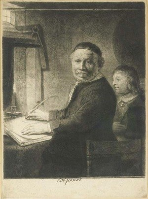 Lieven Willemsz. van Coppenol, Writing-Master Small Plate