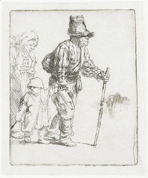 Rembrandt - Peasant Family on the Tramp