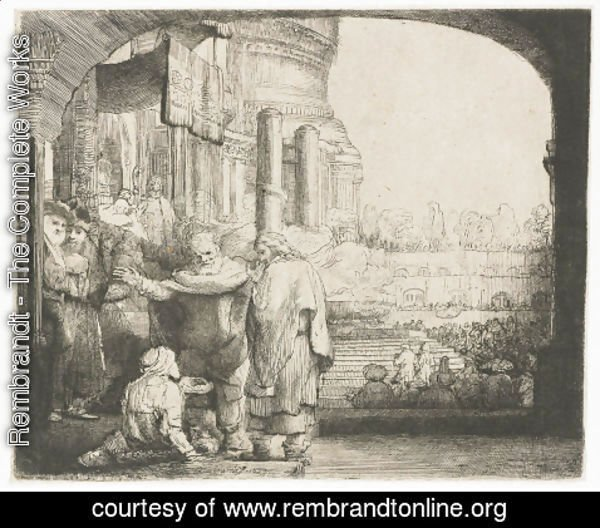 Rembrandt - Peter and John healing the Cripple at the Gate of the Temple