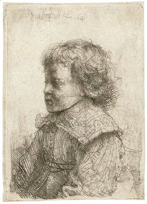 Rembrandt - Portrait of a Boy, in Profile