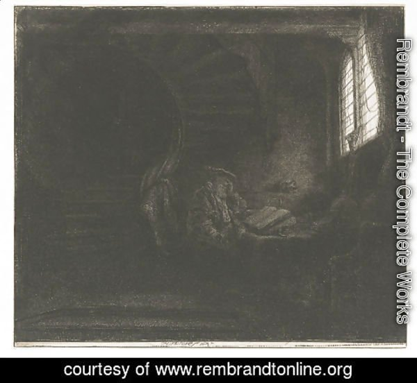 Rembrandt - Saint Jerome in a dark Chamber