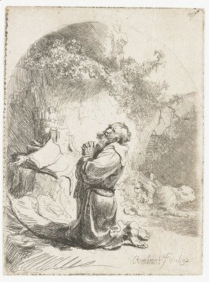 Saint Jerome praying Arched