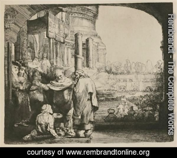 Rembrandt - Saint Peter and Saint John healing the Cripple at the Gate of the Temple