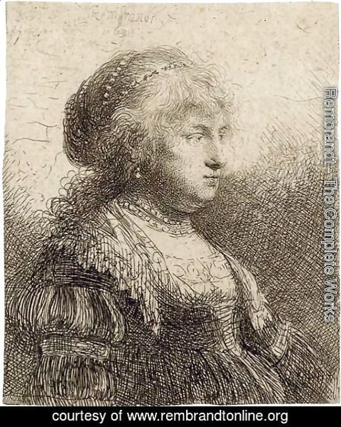 Rembrandt - Saskia with Pearls in her Hair