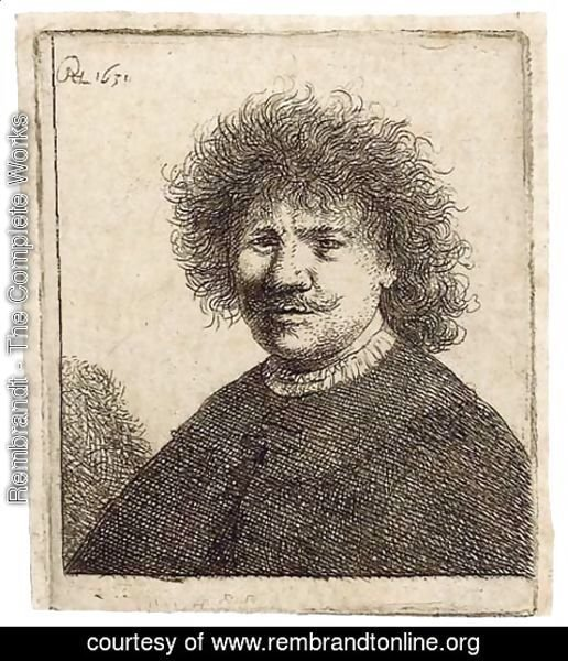 Rembrandt - Self-Portrait in a Cloak with a falling Collar Bust
