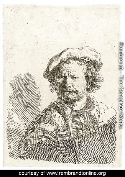 Rembrandt - Self-Portrait in a flat Cap and embroidered Dress 2