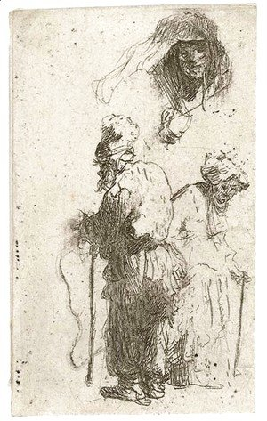 Rembrandt - Sheet of Studies