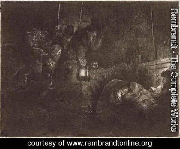 Rembrandt - The Adoration of the Shepherds A Night Piece