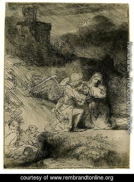 Rembrandt - The Agony in the Garden