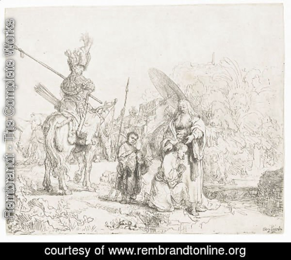 Rembrandt - The Baptism of the Eunuch 2