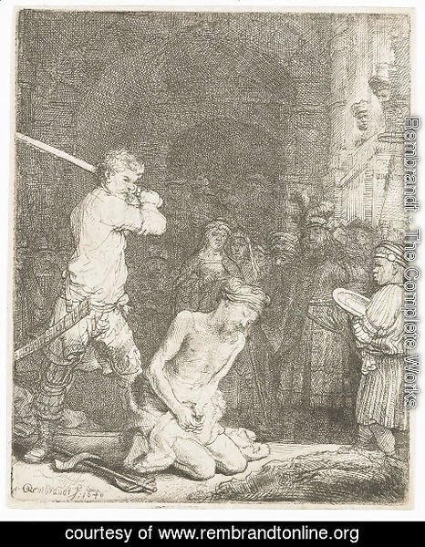 Rembrandt - The Beheading of Saint John the Baptist
