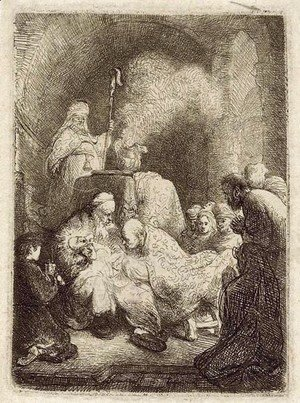 Rembrandt - The Circumcision Small Plate