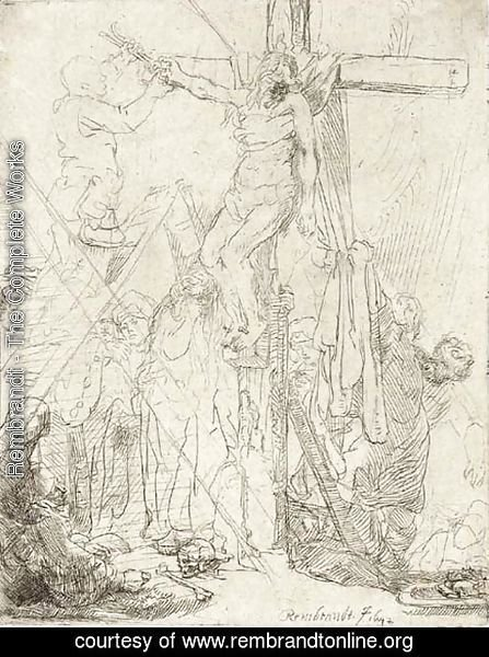 Rembrandt - The Descent from the Cross A Sketch