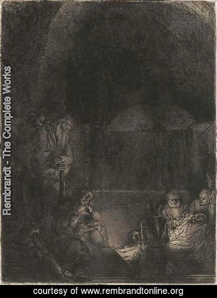 Rembrandt - The Entombment 3