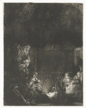 Rembrandt - The Entombment 4
