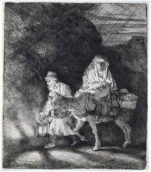 Rembrandt - The Flight into Egypt A Night Piece