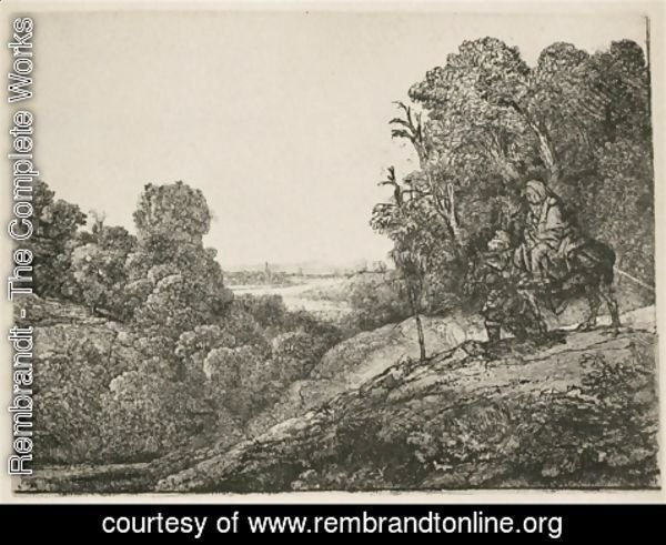 Rembrandt - The Flight into Egypt Altered from Seghers
