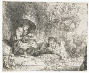 Rembrandt - The Flute Player