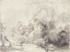 Rembrandt - The Large Lion Hunt