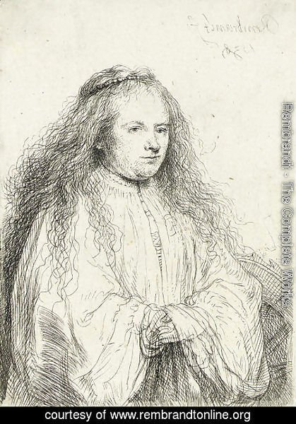 Rembrandt - The little Jewish Bride (Saskia as Saint Catherine)