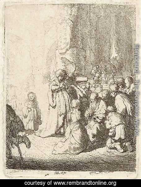 The Presentation in the Temple with the Angel Small Plate